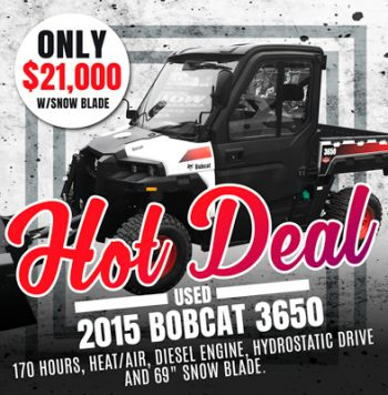 Used 2015 Bobcat 3650 4×4